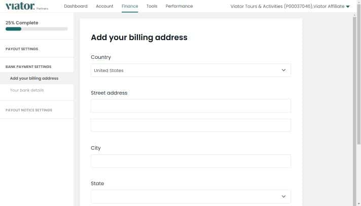 Adding payout details-Step 3