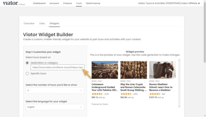 widget builder step 2