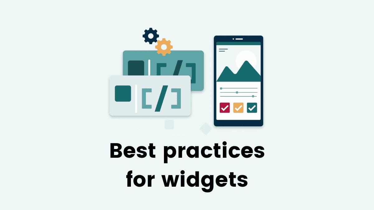 best practices widget