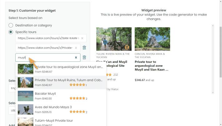 widget builder-curated-step2