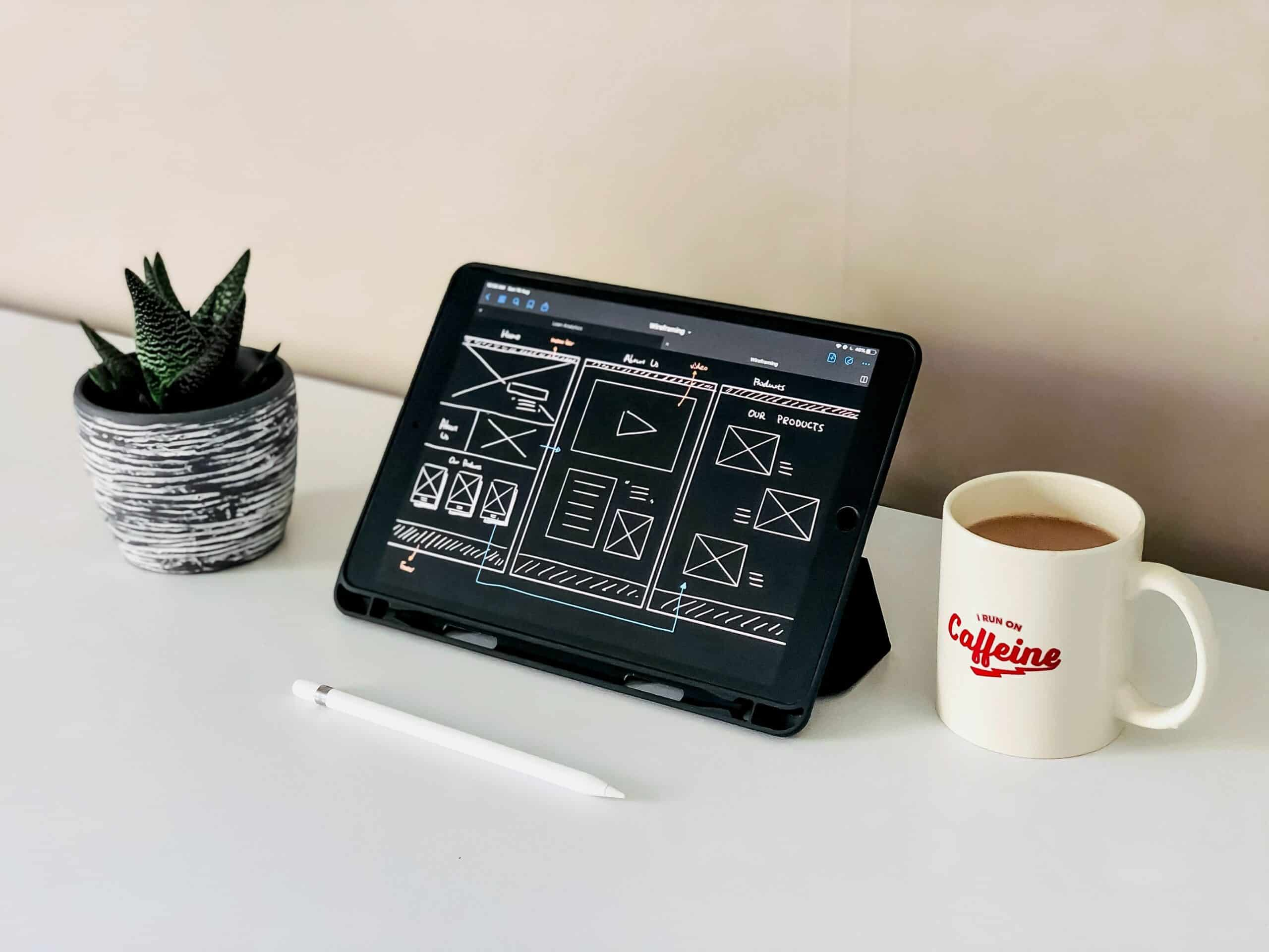 ipad with design structure